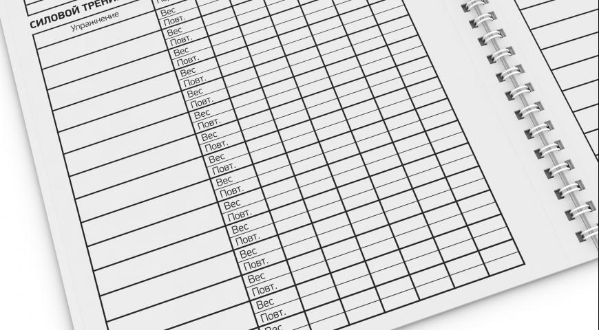 Дневник тренировок в тренажерном зале скачать pdf
