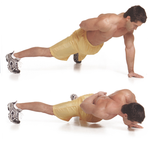 Push-ups on one arm