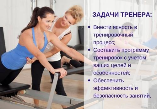 Задачи тренера по фитнесу и бодибилдингу